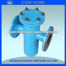 filtro de aceite del recipiente con colador ss DN100 acero al carbono