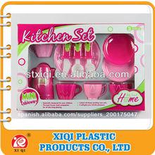 Plástico nuevo pp de juguetes para niños de utensilios de cocina de juguete con en71, la norma astm, hr4040,6p, 18p todo informe