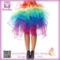 Rainbow Organza BustlePP7315HOT VENTA de las mujeres de la mini falda sexy sexy ropa interior para mujeres