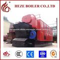 Industrial horizontal usado caldera de madera