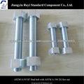 ASTM A193 B7 PERNO PERNO CON ASTM A194 2H TUERCA HEXAGONAL