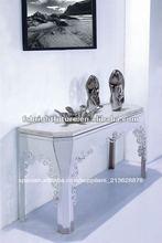 1003# parte superior de mármol marco de metal moderna consola de mesa
