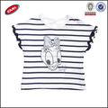 Con estilo personalizado el diseño de ropa para bebés para las niñas, de dibujos animados bordar t camisa chaleco