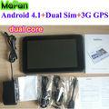 "Mapan 4.1 androide tablet pc con doble núcleo/mini ordenador portátil del ordenador con la tarjeta sim/7"" interna 3g tablet pc"