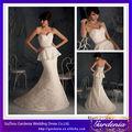 alta calidad marca elegante novia sirena botón atrás todo encaje tren de barrido corsé dos- piezas traje de novia( ab0110)