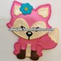 De alta calidad de fox el diseño del bordado/gafas de dibujos animados/tarjeta de identificación de los animales
