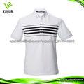 diseño libre del algodón blanco y negro raya camisas de polo para los hombres