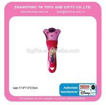 artículo de la promoción juguete electrónico de led linterna con la etiqueta engomada de la corona de diseño