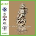 sentado estatueta decoração resina anjo asas artesanato