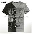 La costumbre de la moda de cuerpo completo de impresión t- shirt