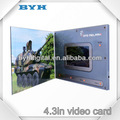 4.3 pulgadas de pantalla lcd marcos de fotos de papel para la revista de vídeo