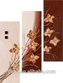 3 panel pc de moda diseño de la flor de la pintura moderna pl-173
