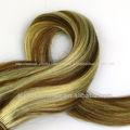 #6/613 marrón y rubia de pelo de mezcla de color del pelo brasileño tejido