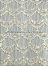 nuevo diseño de alta calidad de malla bordado de encaje de ganchillo(DSNE4348-1)