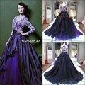 zuhair murad color púrpura bordado de flores de diseño vestidodenoche forma dubai/magnífico de lujo vestidos de noche
