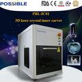venta caliente en el extranjero sea posible fábrica tallar con precisión 3d de cristal máquina de grabado láser precio