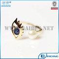 2014 nova moda jóias de pérolas homens design único olho mau mulheres anel atacado barato