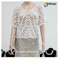 2015 bailange blusas de dama& tapas tipo de producto blusa de encaje de moda nuevo hueco fuera de las señoras blusa de ganchillo