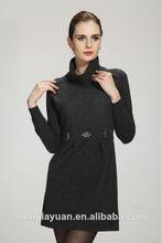 2014 mode col haut mesdames pull en tricot