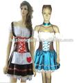 mucama jovencita oktoberfest traje de fantasía para mujer vestido de noche traje de fiesta de la cerveza traje de mucama