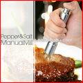 de aceroinoxidable única sal y pimienta del molino