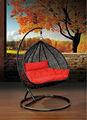 moderno de jardín de mimbre silla colgante