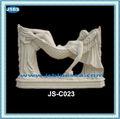 al aire libre decorativos de mármol blanco estatuas de hadas desnuda