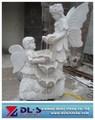 estatua del jardín pequeño de ángel de mármol de estatuas y esculturas