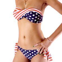 2014 la venta caliente de la bandera americana Bikini Set