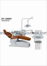 CE, aprobación de la ISO de cuero real Dental Chair Precio / Sillón Dental / nueva unidad dental