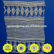 austriaco de lujo diseños de bordado de flores de marfil de encaje de ganchillo recortes para los vestidos