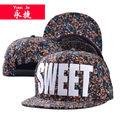 fabricación a medida de las niñas floral snapback baratos sombreros de hip hop tapa
