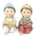 Los santos niños, resina de artículos religiosos católicos. Niño jesús estatua religiosa, zj-01322