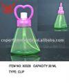 30 ml verde vidro lovely forma frasco de perfume com amor cap