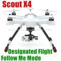 Nuevo producto 2014 Scouts X4 profesional para fotografía aérea asignación al terreno de vuelo designado de largo alcance drone