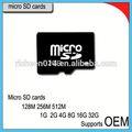 Venta al por mayor de muestras gratuitas 100% plena capacidad 128gb personalizado micro sd tarjeta de memoria