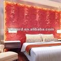 bambu parede quartos decorados com pranchas de parede