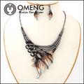 collar y aretes conjuntos de joyas de tipo conjuntos y joyería de la aleación material principal
