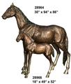 escultura de bronce de animales