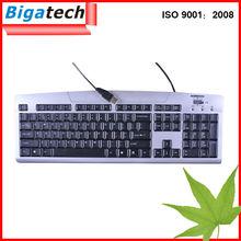 el mejor médico con conexión de cable del teclado de la computadora de color de los teclados