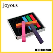 Venta al por mayor parte el uso temporal plaza suave cabello en colores pastel de tiza 6 pieza en tintes de cabello hd-t0604