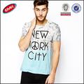 diseños modernos de impresos camiseta gradiente t camisa con la letra impresa