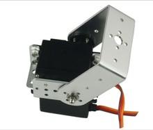 branco suporte pan e tilt kit motor servo robô com torre pro mg995 servos