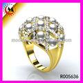 sitio web de alibaba venta al por mayor de oro indio joyería de moda chapado en oro de joyería de perlas para el compromiso