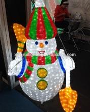 alibaba de navidad/guirnalda/calle/a prueba de agua de la decoración al aire libre de acrílico iluminada del muñeco de nieve