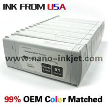 venta al por mayor cartucho de tinta para la impresora Z6100 hp para 91 cartuchos con chips