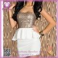 Negocios Vestido de lentejuelas Vestido Pepulum PP2090 alta calidad atractiva para las mujeres