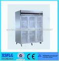 XSFLG cocina comercial seis puertas transparentes nevera