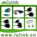 Conversor usb para serial cabo, com rs232 driver, db9 conector