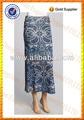 floral de la mujer de lino patrón de desgaste de varios de verano casual de vestir de moda